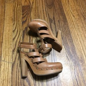 BCBG leather booties high heels size 7.5